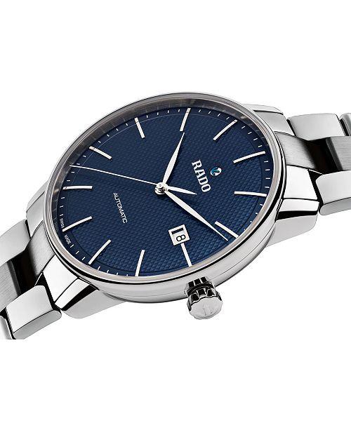 e7c0f78fa88 ... Rado Men s Swiss Automatic Coupole Classic Stainless Steel Bracelet  Watch ...
