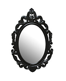 Stratton Home Decor Black Baroque Mirror