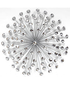"Stratton Home Decor 24"" Silver Acrylic Burst Wall Decor"