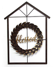 Stratton Home Decor Blessed Wreath and House Wall Decor