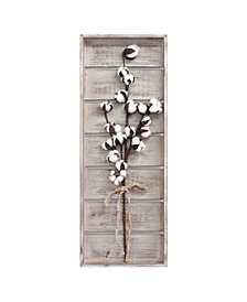 Stratton Home Decor Cotton Stem Panel Wall Decor