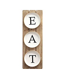 "Stratton Home Decor Planked ""EAT"" Sign"