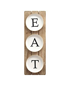 """Stratton Home Decor Planked """"EAT"""" Sign"""