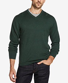 Weatherproof Vintage Men's Cotton Cashmere V-Neck Sweater