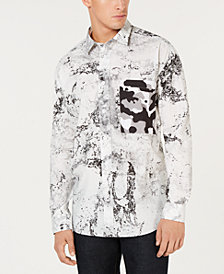 HUGO Men's Marble Long-Sleeve Shirt