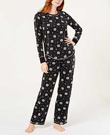Jenni Printed Mink Pajama Set, Created for Macy's
