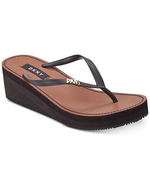 8e6bfe4935c4 DKNY Mar Wedge Sandals