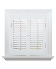 "Traditional Faux Wood Interior Shutter, 23-25""  W x 20"""