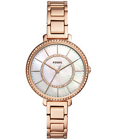 Fossil Women's Jocelyn Rose Gold-Tone Stainless Steel Bracelet Watch 36mm