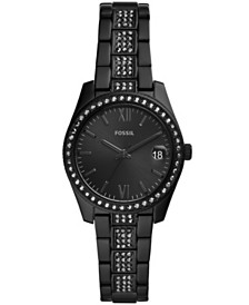 Fossil Women's Scarlette Black Stainless Steel Bracelet Watch 32mm