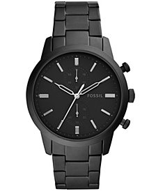 Fossil Men's Chronograph Townsman Black Stainless Steel Bracelet Watch 44mm