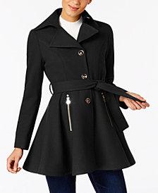I.N.C. Petite Skirted Walker Coat, Created at Macy's