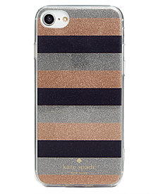 kate spade new york Glitter Stripe iPhone 8 Case