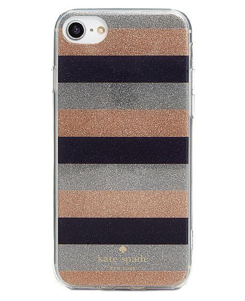 free shipping 64569 47267 kate spade new york Glitter Stripe iPhone 8 Plus Case & Reviews ...