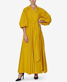 INSPR x Natalie Off Duty Poplin Wrap Maxi Dress, Created for Macy's