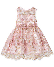 Rare Editions Baby Girls Embroidered Dress