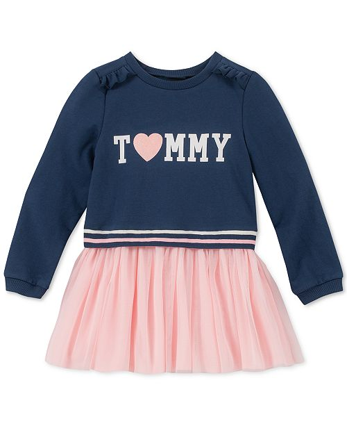 2fa46c5f8 Tommy Hilfiger Baby Girls French Terry Tutu Dress & Reviews ...