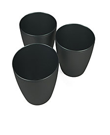 Mind Reader 3 pc Multi Purpose Trash Bin Set, Black