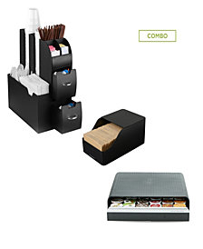 Mind Reader Coffee Condiment Organizer with Draw for 36 K-Cups, Black