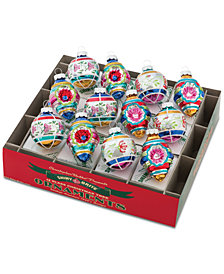 "Christopher Radko Christmas Confetti 1.75"" Decorated Rounds & Shapes Ornaments, 12-Pc. Set"