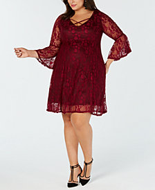 Love Squared Plus Size Lace A-Line Dress