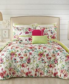 Watercolor Garden Full/Queen 3-PC Comforter Set