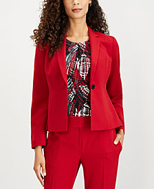Kasper Single-Button Blazer