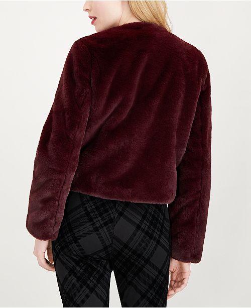b5c3e6c4c450 Maison Jules Tie-Neck Faux-Fur Jacket, Created for Macy's & Reviews ...