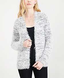 Maison Jules Fuzzy Open-Front Cardigan, Created for Macy's