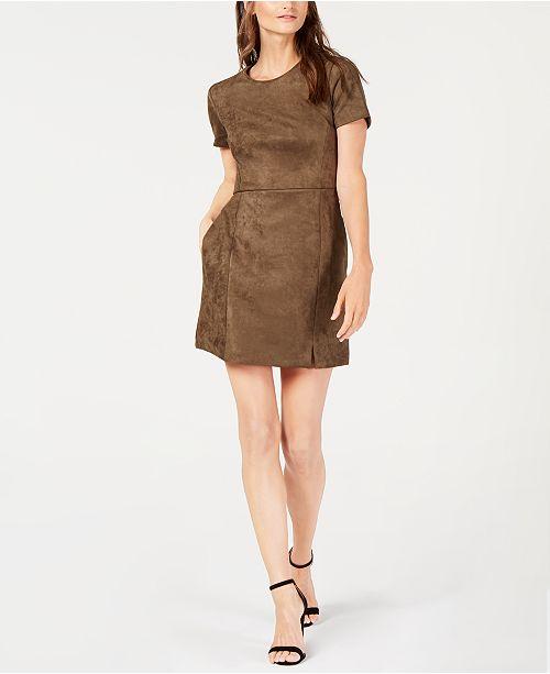 ab00fafa42c French Connection Faux-Suede Dress & Reviews - Dresses - Women - Macy's