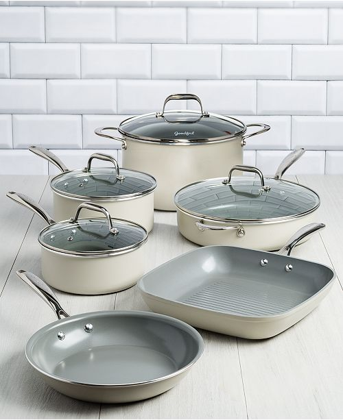 Goodful 10-Pc. Ceramic Cookware Set, Created for Macy's