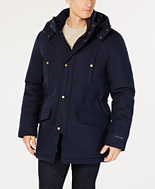 Tommy Hilfiger Men's Modern-Fit Indigo Blue Snowden Overcoat