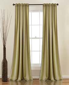 "Julia Stripe 52""x84"" Room Darkening Window Curtain Set"