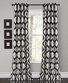 "Diamond Ikat 84"" x 52"" Room Darkening Window Curtain Set"