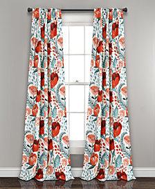 """Poppy Garden 84""""x52"""" Room Darkening Window Curtain Panels"""
