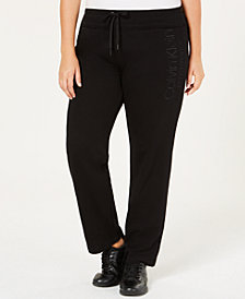 Calvin Klein Performance Plus Size French Terry Logo Pants