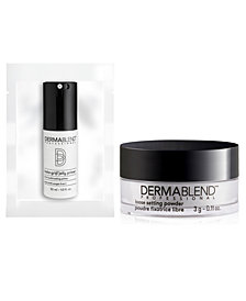 Receive a FREE Mini Loose Setting powder plus Inst-Grip Jelly Makeup Primer with $45 Dermablend purchase!