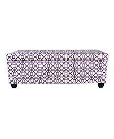 MJL Furniture Designs Sole Secret Button Tufted Small Shoe Storage Bench
