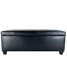 MJL Furniture Designs Sole Secret Retro Vinyl Upholstered Shoe Storage Bench