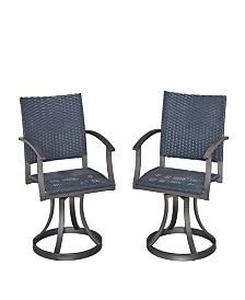 Home Styles Stone Veneer Outdoor Swivel Chair