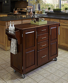 Home Styles Create-a-Cart Cherry Finish with Oak Top
