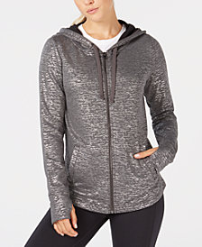 Ideology Metallic Zip Hoodie, Created for Macy's