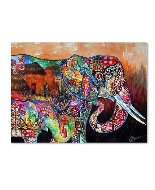 """Trademark Global Oxana Ziaka 'Africa' Canvas Art - 19"""" x 14"""" x 2"""""""