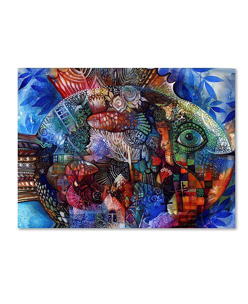 "Trademark Global Oxana Ziaka 'Fish' Canvas Art - 19"" x 14"" x 2"""
