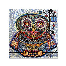Oxana Ziaka 'Magic Graphic Owl' Canvas Art Print Collection