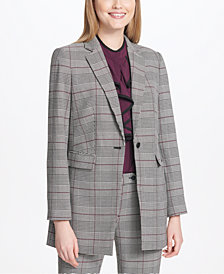 Calvin Klein Glen Plaid Blazer, Regular & Petite