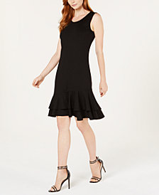 NY Collection Petite Sleeveless Ruffle-Hem Shift Dress