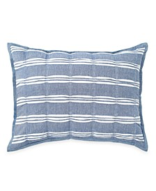 Home Puckered Stripe Standard Sham