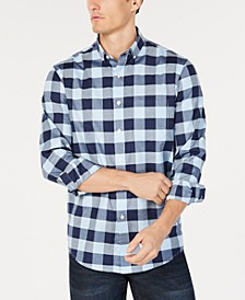 Men's Herringbone Plaid Pocket Shirt, Created for Macy's