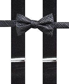 Alfani Men's Plaid Pre-Tied Bow Tie & Suspender Set, Created for Macy's